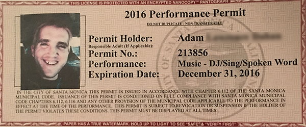 Performance Permit