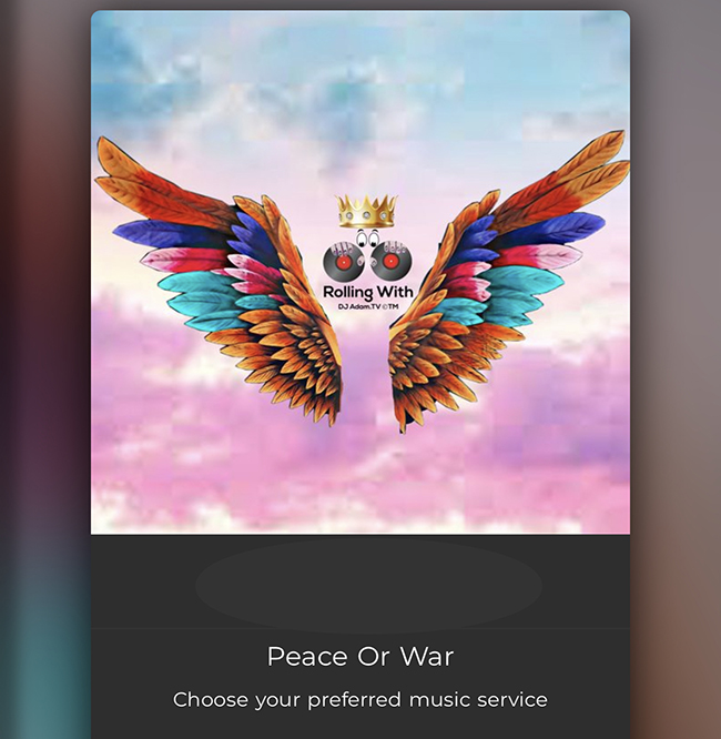 Peace or War - Rolling With DJ Adam